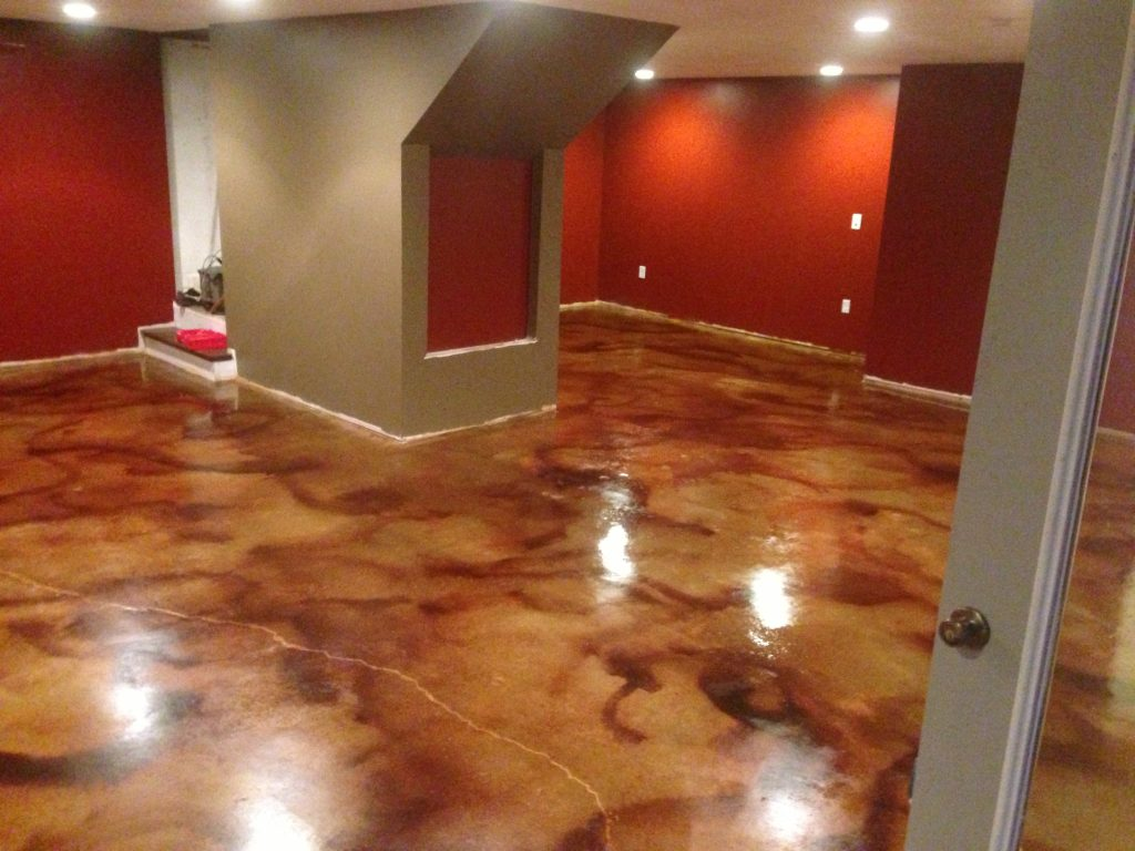 acid-stained-floor