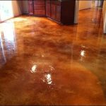 decorative basement concrete floor