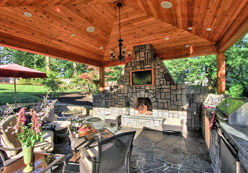 outdoor-patio kitchen