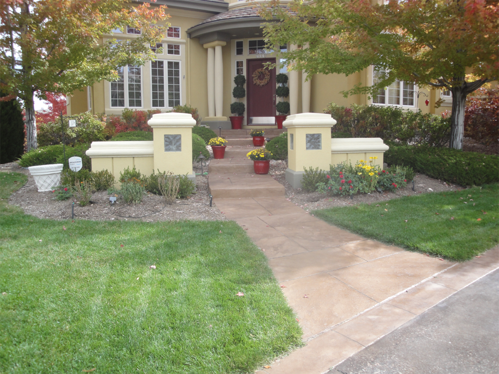 replace decorative concrete restain