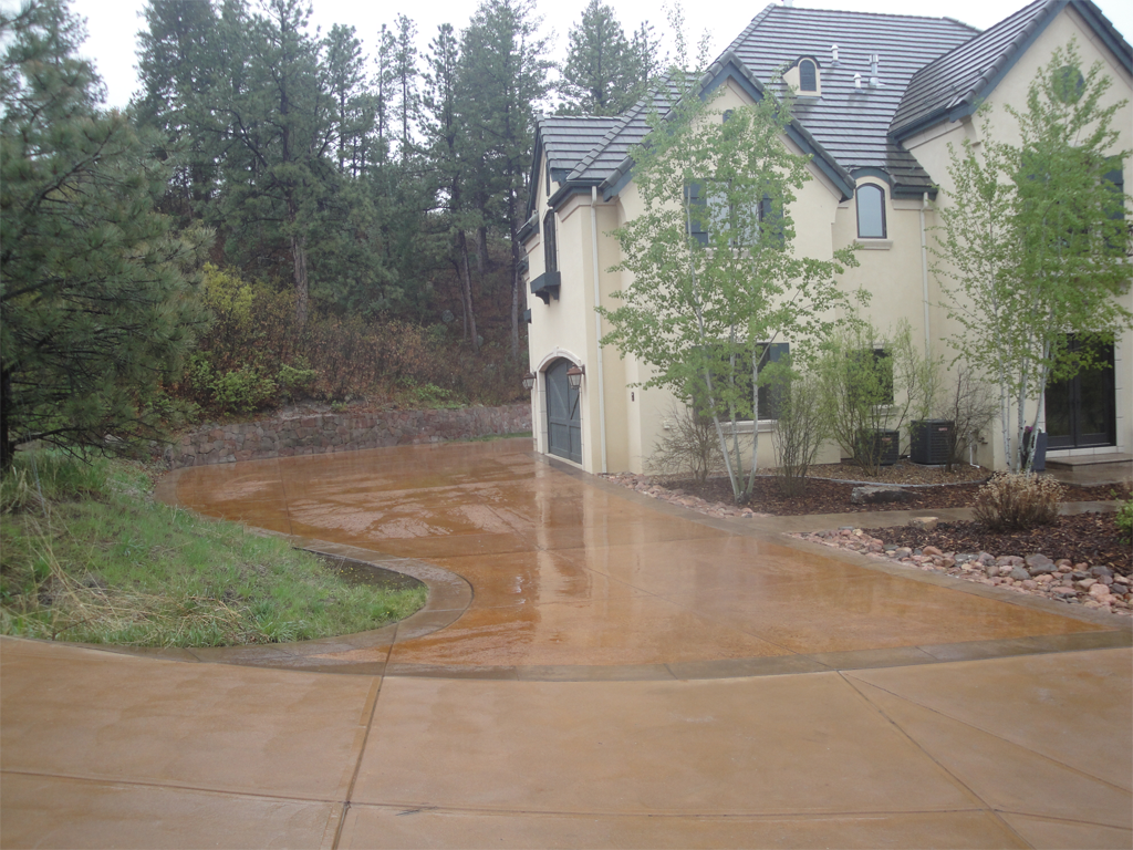 residential decorative concrete stain