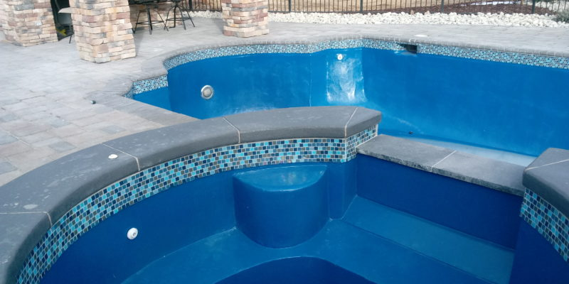 Pool and Spa Restoration before