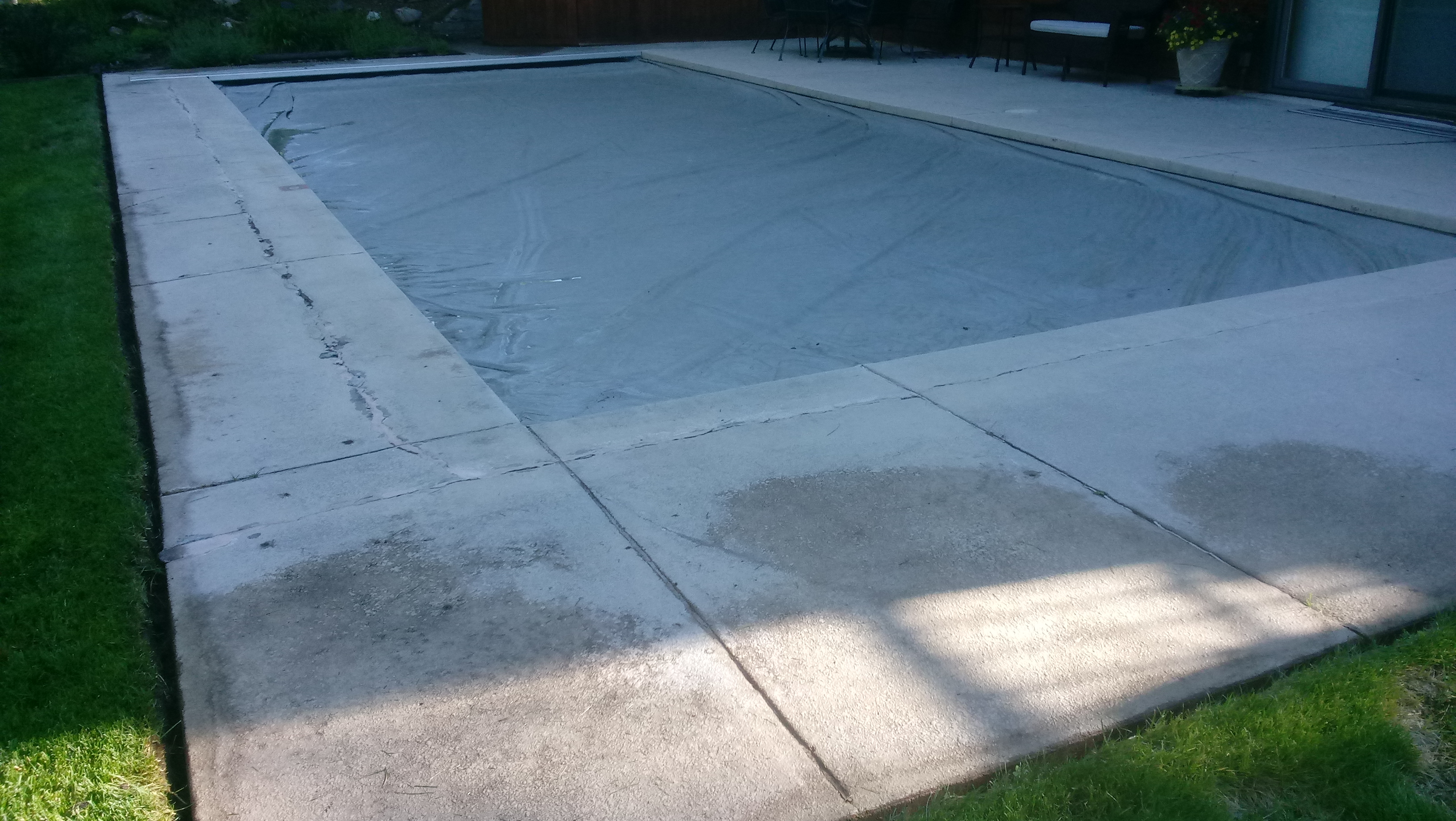 Pool Deck - before concrete restoration - Concrete